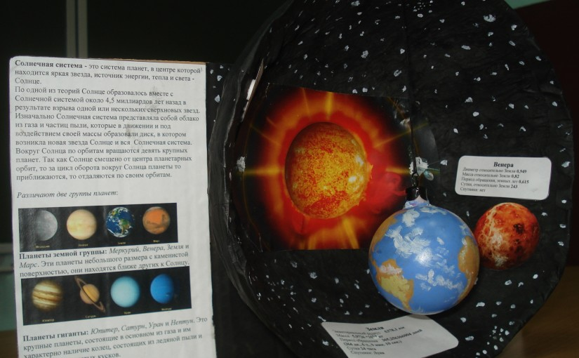 Model of the Solar system (fragment)