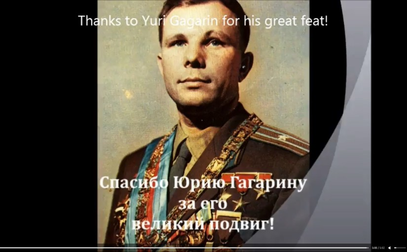 The fly of the fist cosmonaut of planet U. A. Gagarin