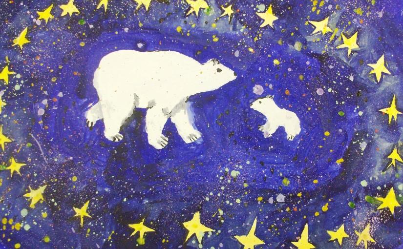 Большая медведица с медвежонком