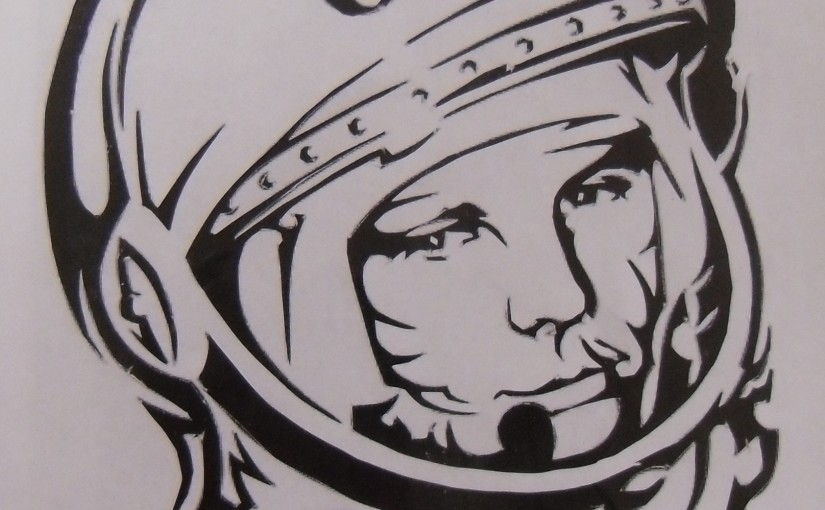 The first cosmanaut Yury Gagarin